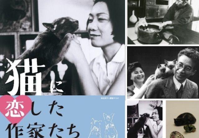 向田邦子など、猫に恋した作家たちの展覧会が開催中だにゃ