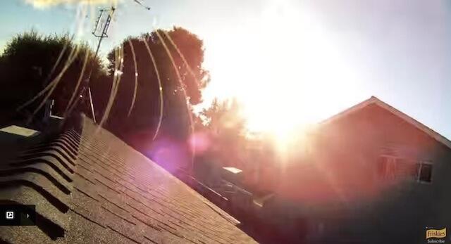 屋根の上 フリスキーによる猫目線のカメラ動画