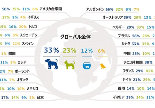 【世界調査】猫の飼育率1位はロシア、飼育数1位は中国