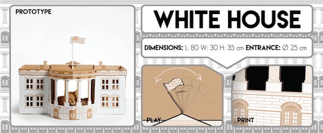 ダンボール猫ハウス「ホワイトハウス」