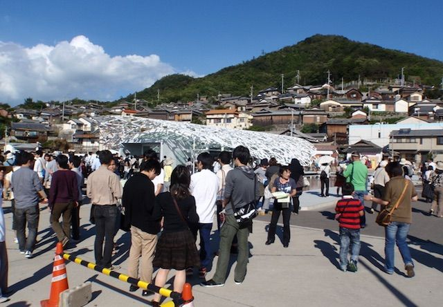 男木島の観光客
