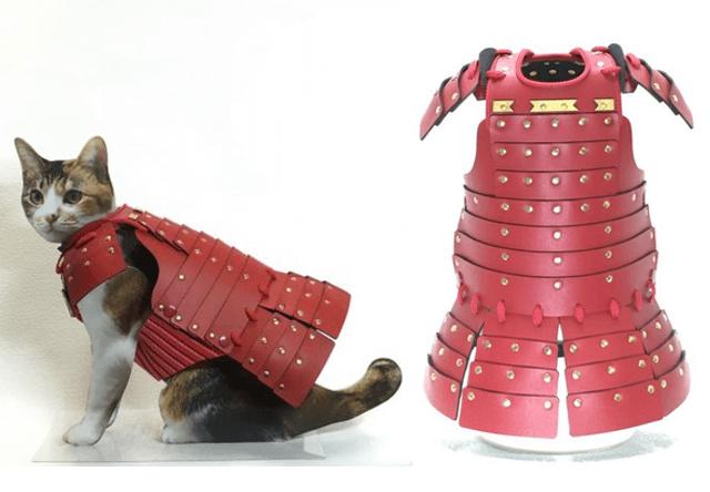 サムライエイジから発売された猫の鎧