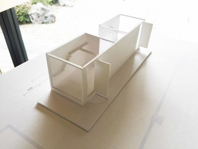 猫庭の模型図