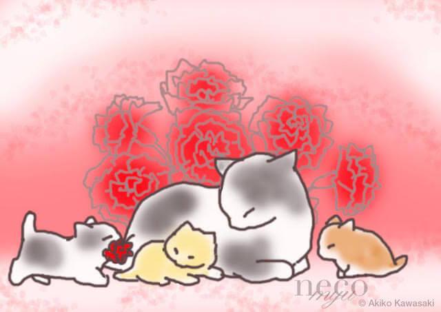 川崎あき子さんの猫作品2