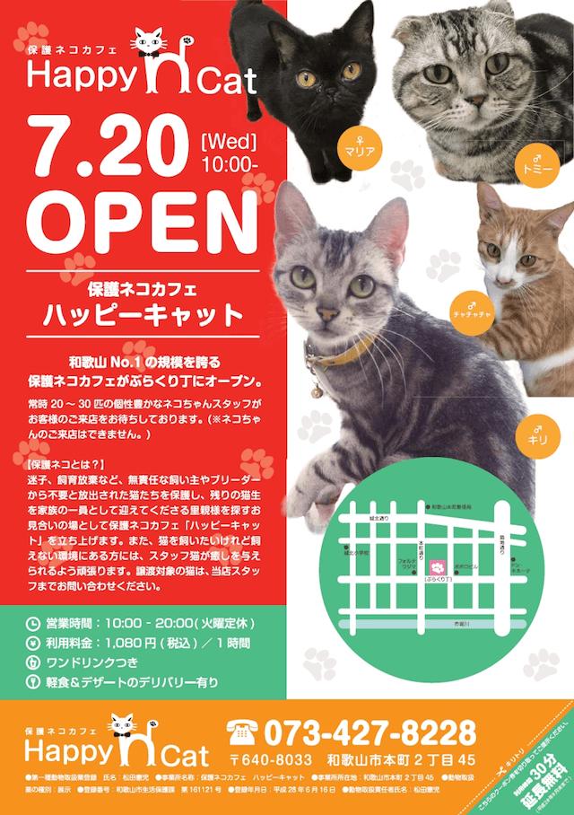 和歌山市本町のぶらくり丁商店街に保護猫カフェ「ハッピーキャット」がオープン