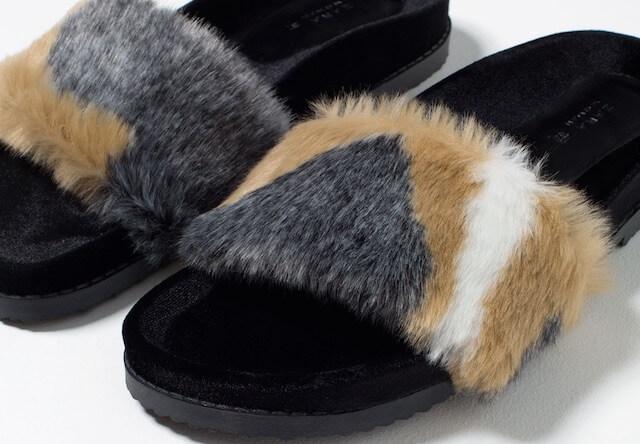 まるで三毛猫、ZARAのフェイクファーサンダルが可愛い!