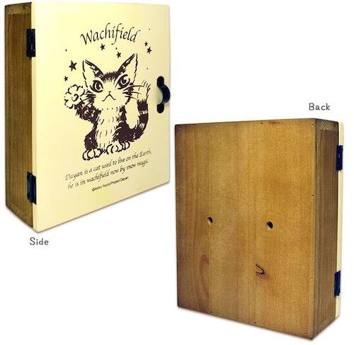 猫のダヤン 木製キーボックス 側面&背面