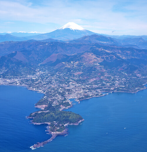 富士山と真鶴半島