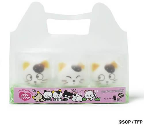タマ&フレンズのマシュマロ 3個入りのパッケージ