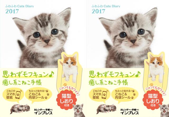 子猫の写真をモチーフにした2017年用の手帳が発売開始