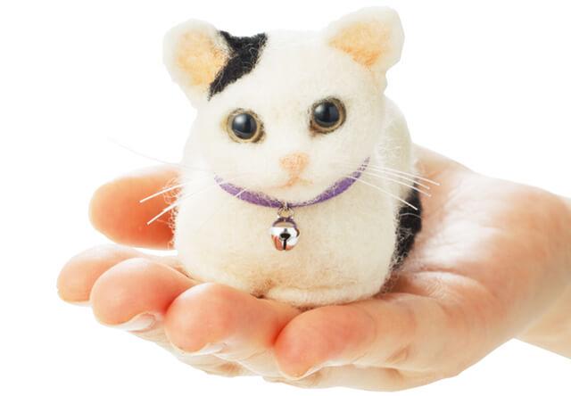 フェリシモ猫部、羊毛フェルトで猫が作れる手作りキットを発売