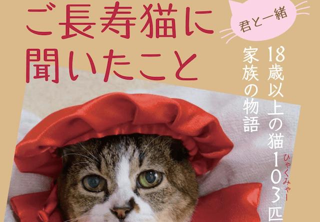 103匹の高齢猫から学ぶ書籍、君と一緒 ご長寿猫に聞いたこと
