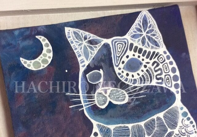 猫八さんの作品「猫と月」