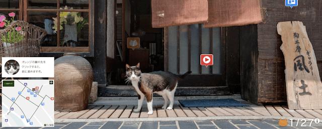 猫に遭遇(広島キャットストリートビュー竹原編)