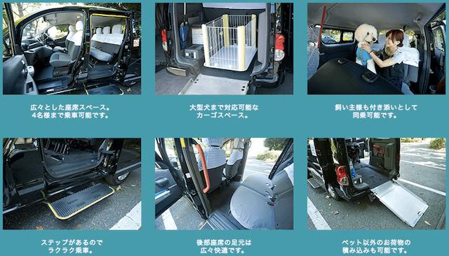 ペットタクシーの特徴