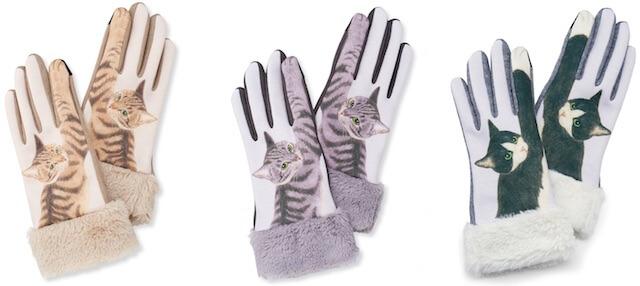 猫パンチ手袋は「キジトラ」「サバトラ」「白黒ハチワレ」の3種類