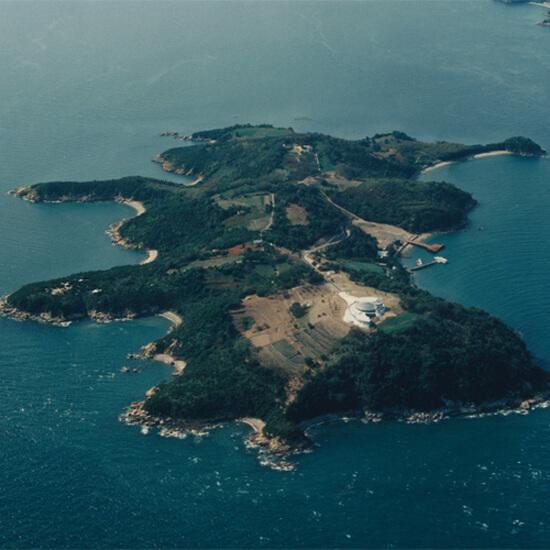 岡山県にある「黄島」の航空写真