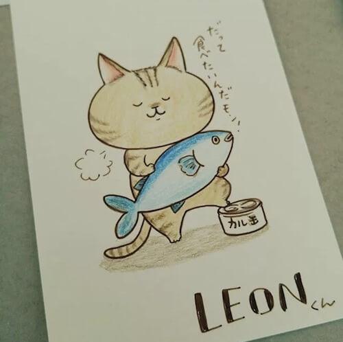 「misato」さんの描いた猫イラスト1