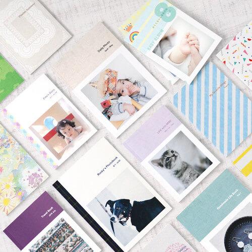 フォトブックの表紙デザインは200種類以上