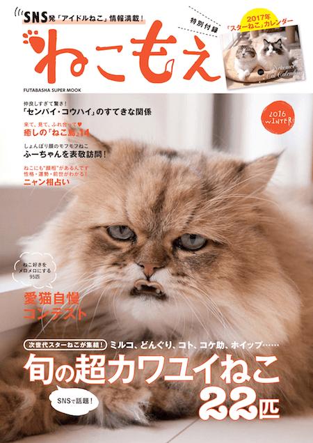 しょんぼり顔の猫「ふーちゃん」が表紙の「ねこもえ」