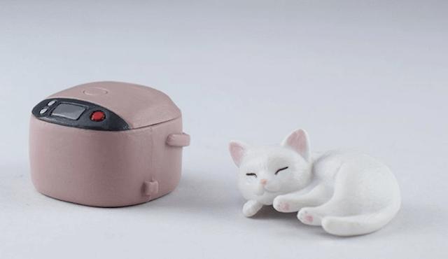 炊飯器と猫フィギュアは切り離し可能