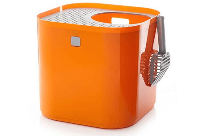 猫トイレ「ModKat モドキャット」のオレンジカラー