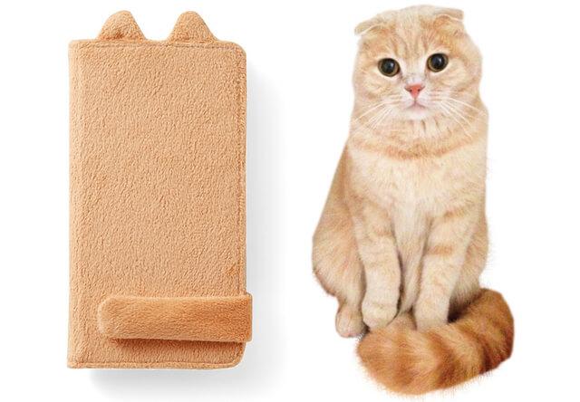 クルッと可愛い猫のしっぽマフラー、スマホカバーになって登場