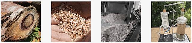 樹齢300年の天然木曽ヒノキから天然蒸留水を抽出