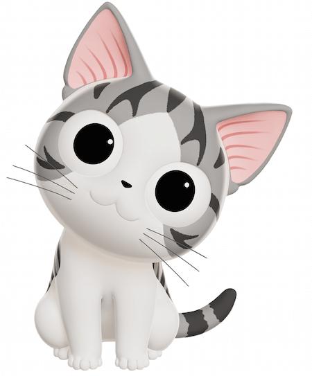3DCG化された子猫のチー
