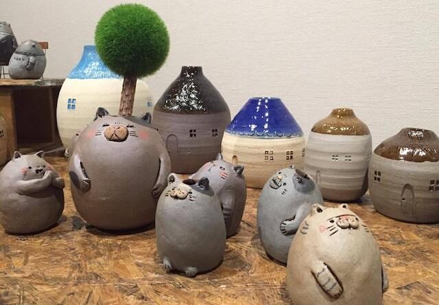 陶芸でネコの一輪挿しを作ろう