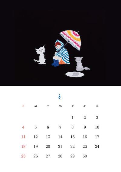 2017年版 猫づくしカレンダー(6月)