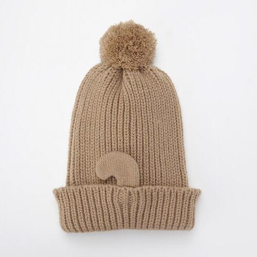 猫耳ニット帽の背面