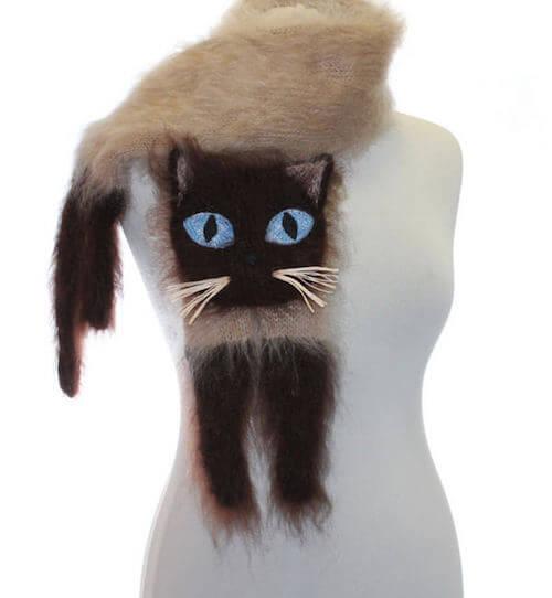 シャム猫のマフラー