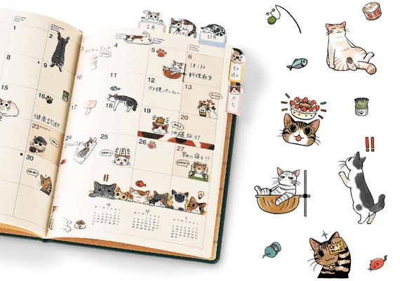 「猫まみれ手帳シール」の商品イメージ