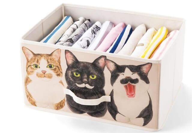 フェリシモ猫部から、猫の香箱座りをデザインした収納ボックスが登場