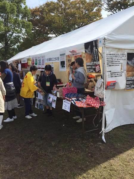 福岡ねこともの会が参加した、動物愛護フェスタの様子
