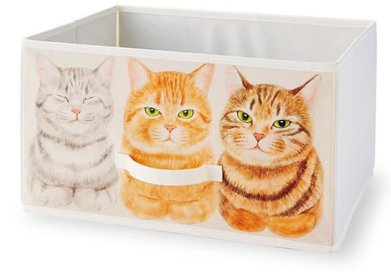 トラ猫の香箱座り収納ボックス