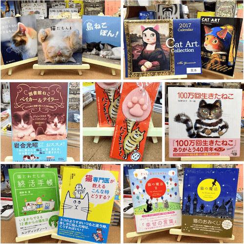 猫専門書店の「にゃんこ堂」の猫書籍