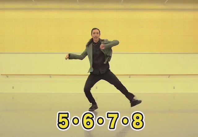 TAKAHIRO氏がダンスの解説した、猫ふんじゃったミュージックビデオのレッスン動画