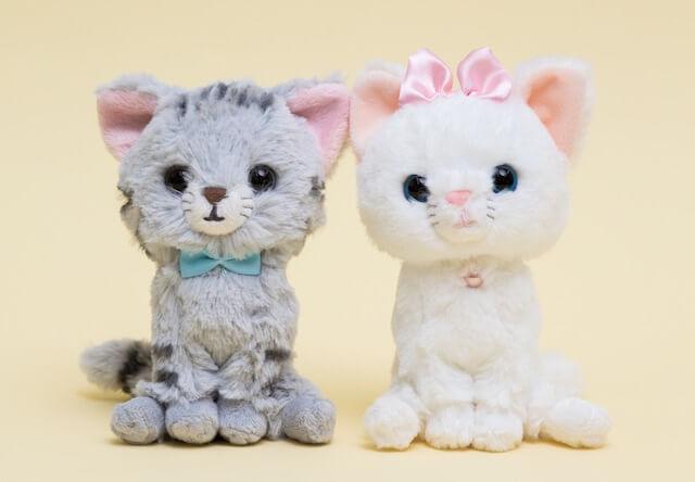 猫好きな人への電報に、猫のぬいぐるみ電報「コタロウとモモ」