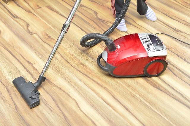 キャニスター型の(ホース付きの床移動型)掃除機