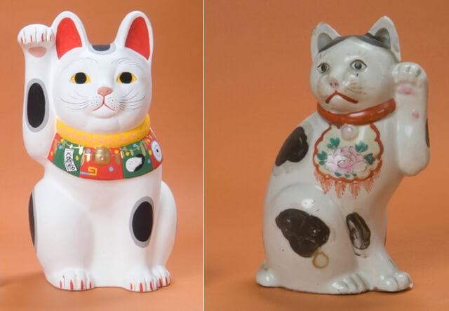 京都高島屋で開催中の招き猫博覧会で展示されている招き猫イメージ1