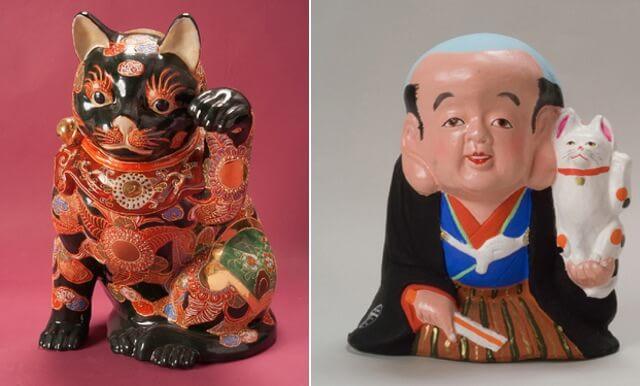 京都高島屋で開催中の招き猫博覧会で展示されている招き猫イメージ2