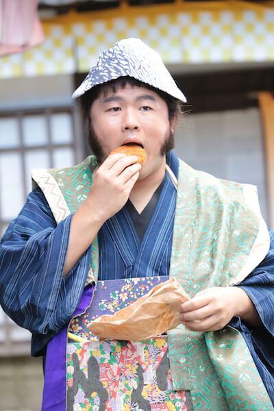 ドラマ版「猫忍」で陽炎太の忍者修行仲間、虎眼(こがん)役を演じる草野イニさん