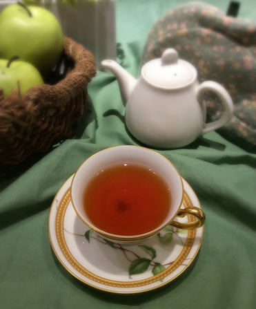 日本紅茶協会に認定されている「カフェ青りんご」の紅茶