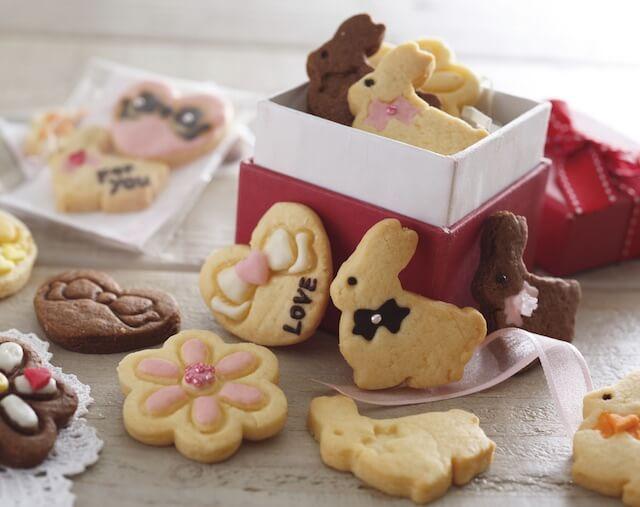 貝印×クックパッドの抜き型で作った、うさぎのクッキー1