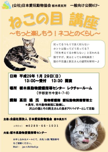 栃木県動物愛護指導センターで開催「ねこの目講座~もっと楽しもう!ネコとのくらし~」