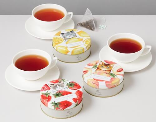 アフタヌーンティー・ティールームで発売される、猫モチーフの紅茶