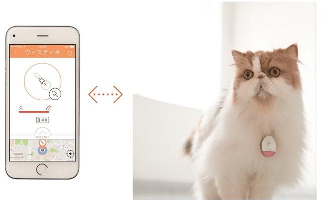 首輪に取り付けると、スマホから愛猫の位置を把握できる電子タグ「Wistiki」(ウィスティキ)