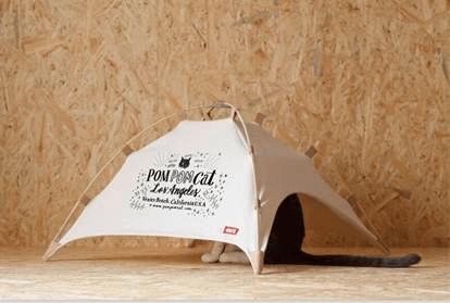 41世紀×「猫のいる暮らし展」がコラボした猫用テント
